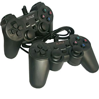 M-Tech Gamepad Double Getar Black - Stick PC/ Laptop