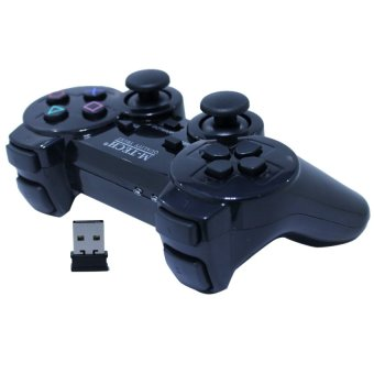 M-Tech Gamepad Single Getar Wireless 2.4GHZ - Stik Hitam