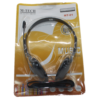 M-Tech Headset M-Tech 01 - Hitam - 3