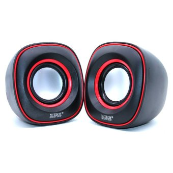 M-Tech Speaker Portable Laptop Notebook Stereo M-Tech 06 - Merah