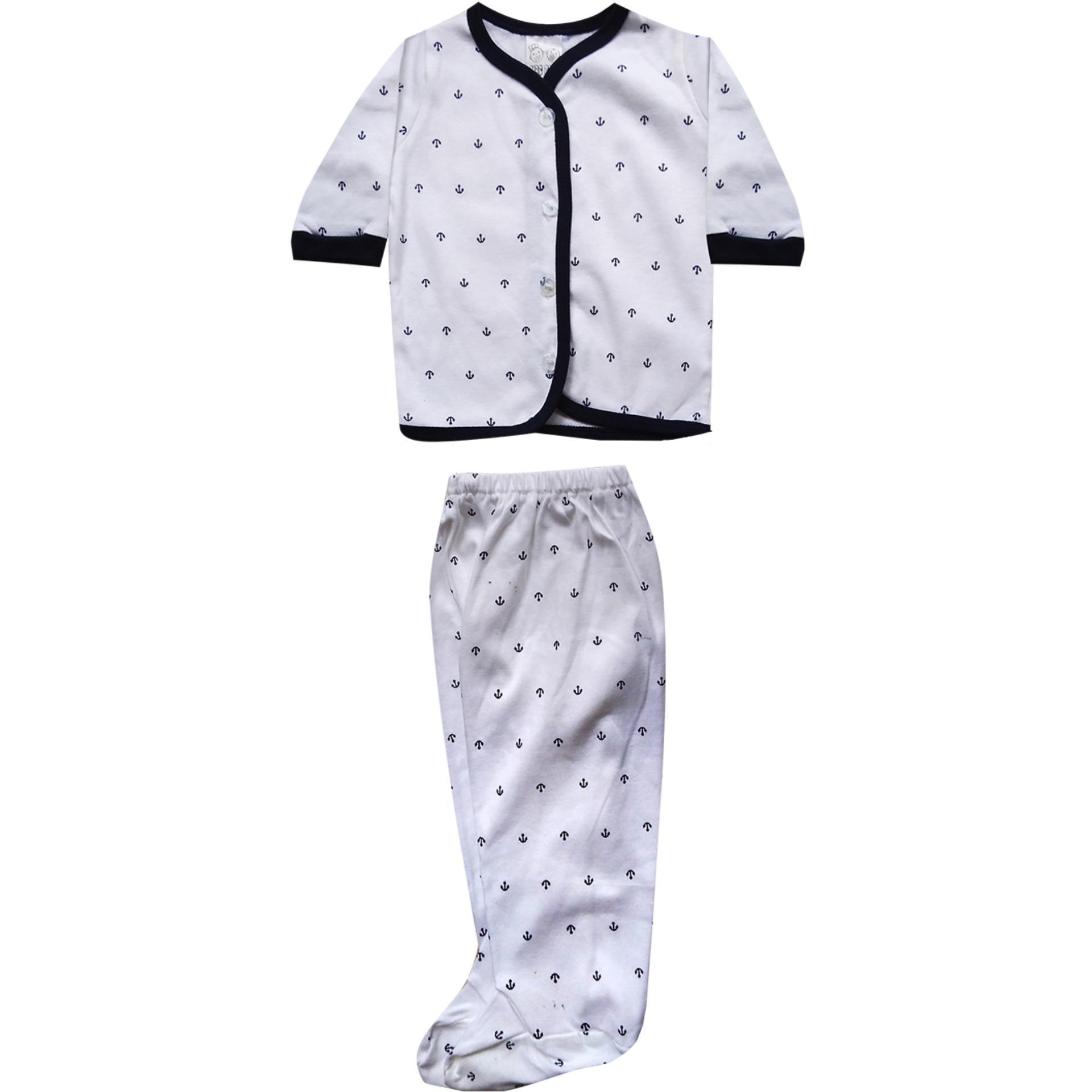 Bearbee Setelan Lengan Panjang Celana Newborn 3set Baju Bayi Macbaby Variasi