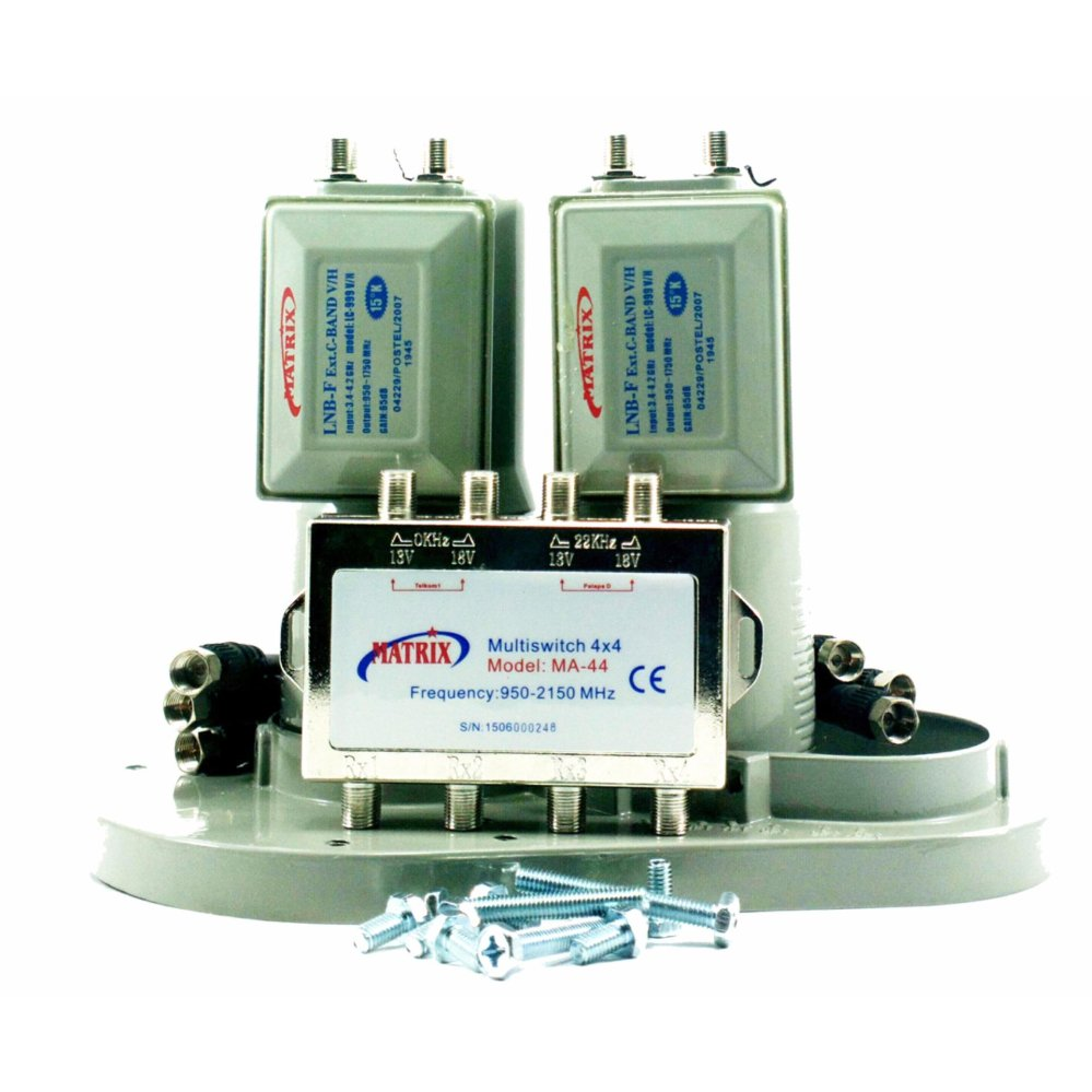 ... Matrix LNB C Band 2 in 4 (2 Satelit 4 Receiver) With Multiswitch ...