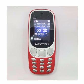 MAXTRON New C22 Dual SIM Garansi Resmi - Red