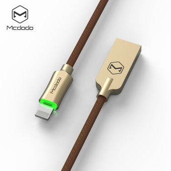 Mcdodo Zinc Knight 1.8m Auto Disconnect Lightning Data Cable foriphone7 7plus 6s 6 Breathing light
