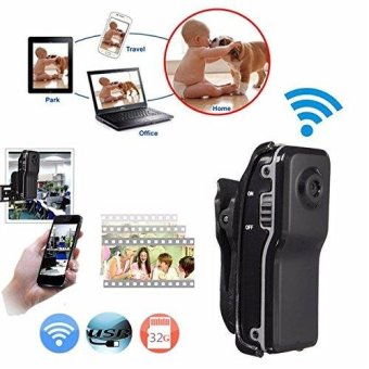 MD81S Mini Camera Wifi IP P2P Wireless Camera Secret Recording CCTV Android iOS Camcorder Video Espia Nanny Candid - intl