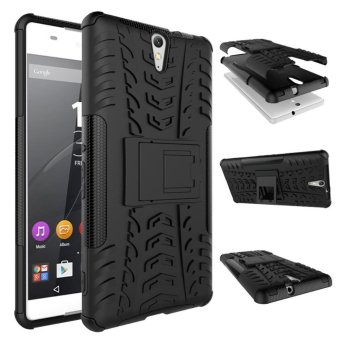 Meishengkai Case For Sony Xperia C5 Ultra Detachable 2 in 1 Hybrid Armor Design Shockproof Tough Rugged Dual-Layer Case Cover with Built-in Kickstand Black ...
