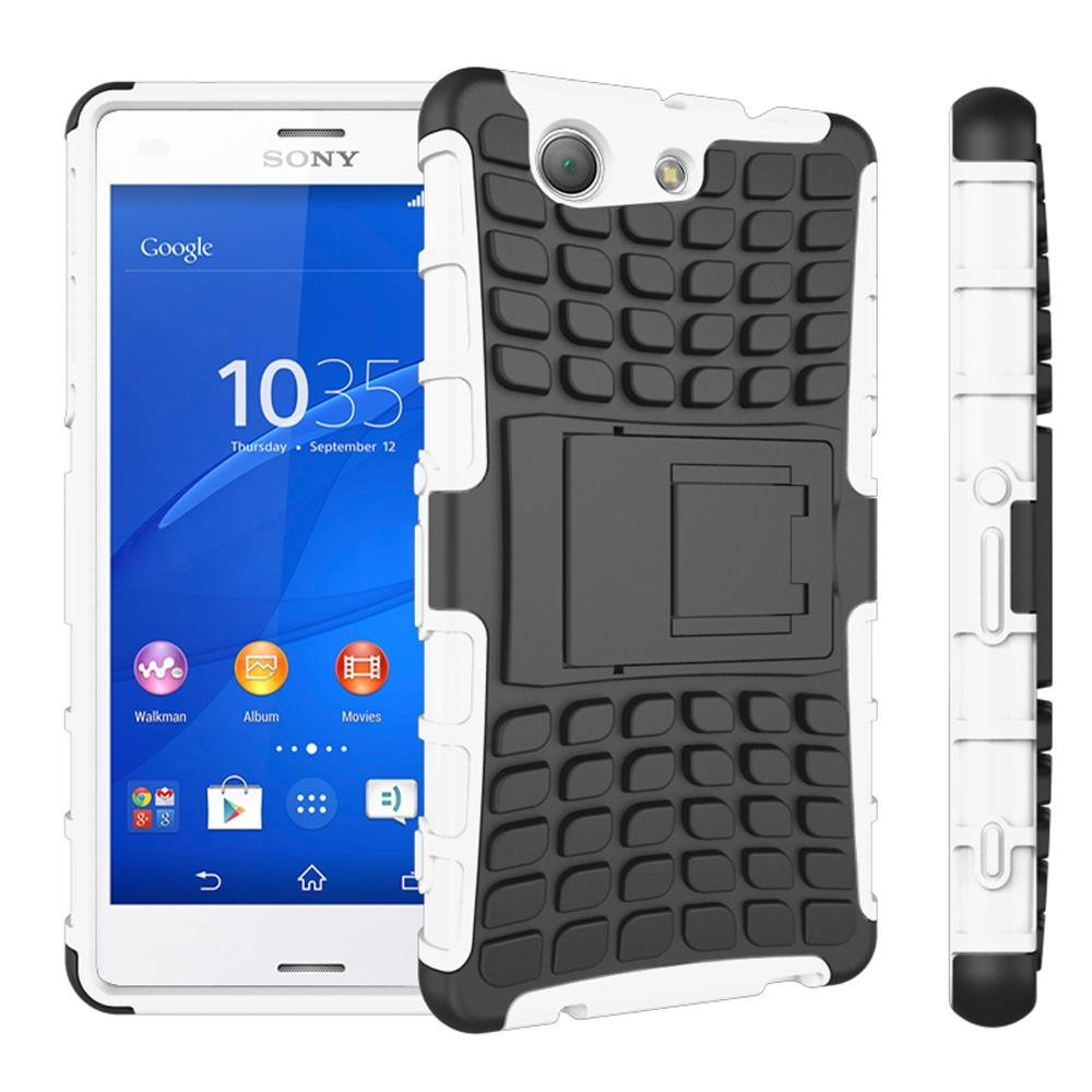 ... Meishengkai Case For Sony Xperia Z3 Compact Detachable 2 in 1Shockproof Tough Rugged Prevent Slipping Dual ...
