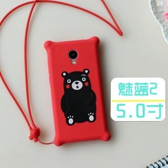 Meizu note2/m2 silikon lembut penurunan resistensi lengan pelindung shell telepon