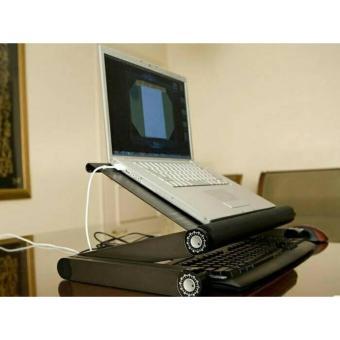 Meja Laptop Lipat Portable Aluminium Alloy Kokoh Bisa Disesuaikan
