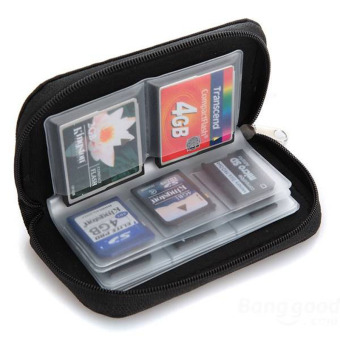 Harga Memory Card Storage Wallet Case Bag Holder SD Micro 22 Slots CameraBlack