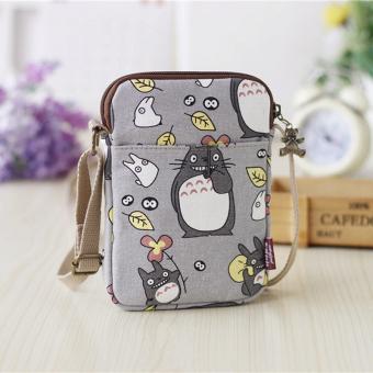 Meng cinta Korea Fashion Style kanvas mini dan dompet kain kecil tas tas