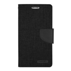 Mercury Canvas Diary Case Vivo Y22 Flip Cover  - Hitam