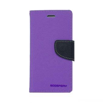 Mercury Goospery Fancy Diary for Samsung Galaxy Note 3 Neo Case - Purple/Navy