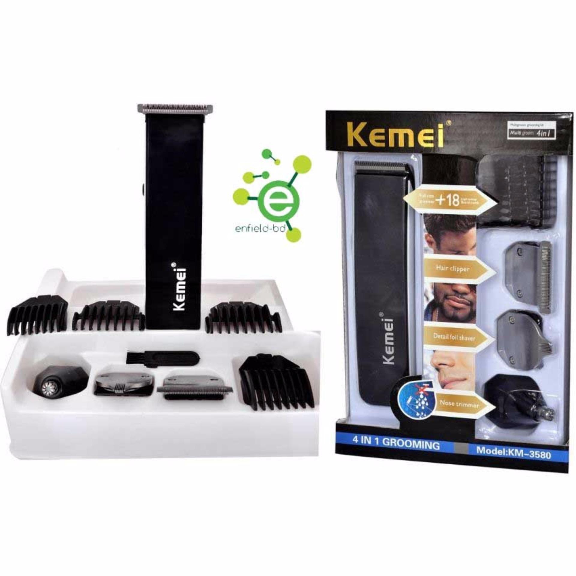 Mesin Cukur Rambut KEMEI KM-3590 Multigroom 5 in 1 Rechargeable Hair Clipper d40632db05