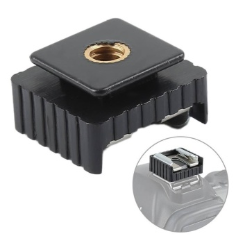 Metal Flash Hot Shoe Mount Adapter to 1/4 Thread for Studio LightStand Tripod - intl