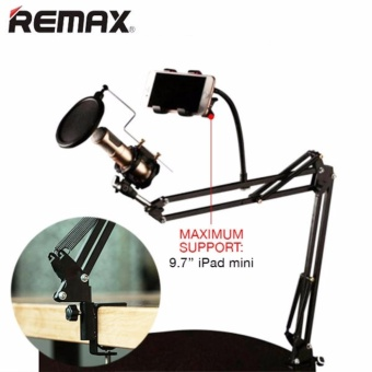 Mic Arm Stand Microphone Suspension Holder Pop Filter for Sound Record & Smartphone Stand