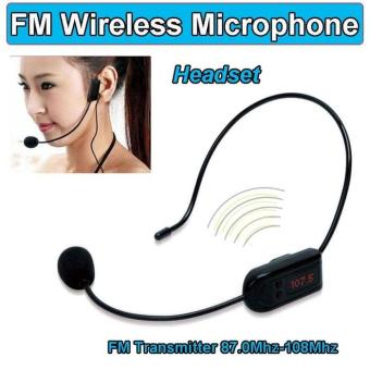 Mic Mik Microfone Microphone Wireless FM Transmitter Headset For Guide