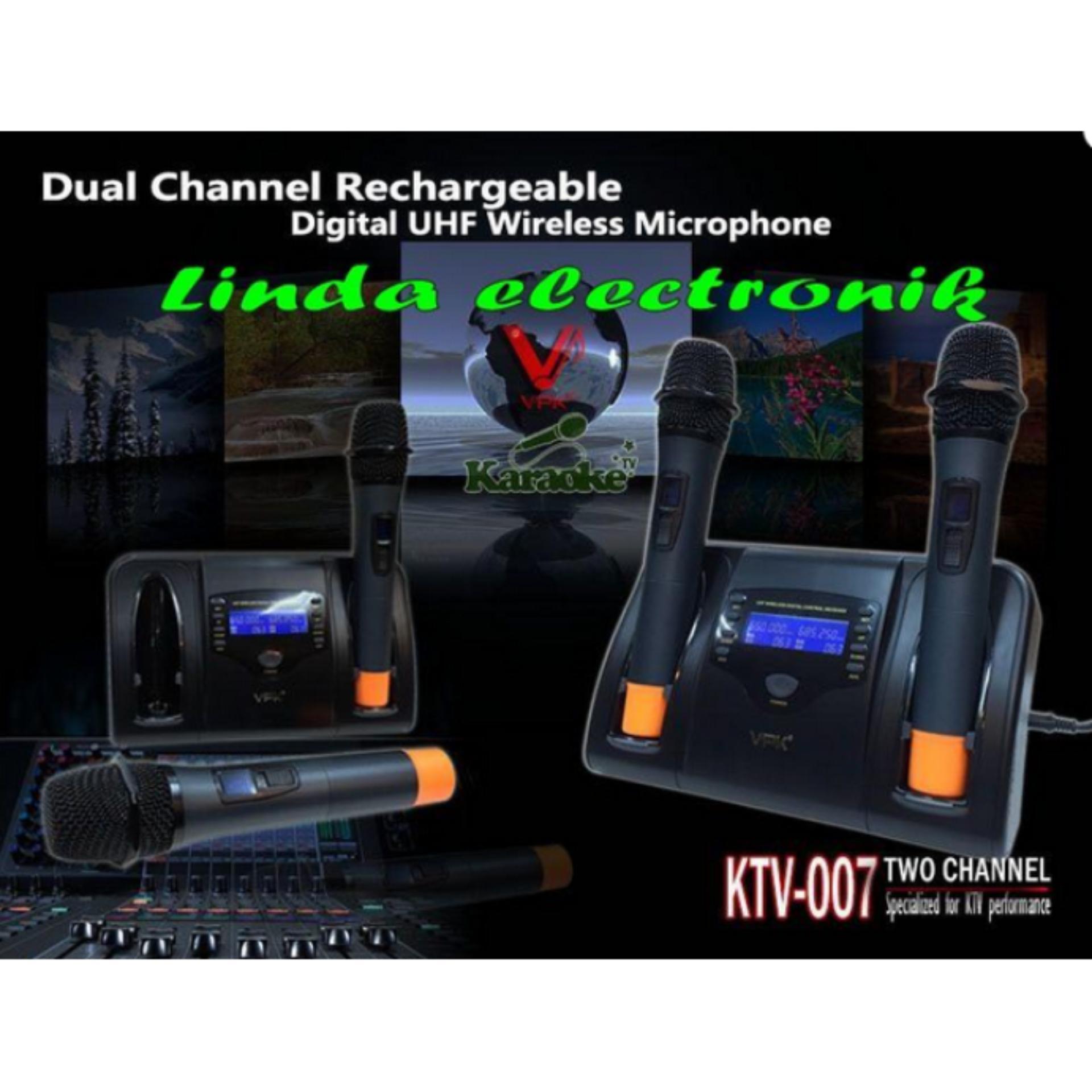 Pencarian Termurah Mic Wireless Vpk Ktv 007 Plus Baterai Charger Phrodi 007p Earphone With Pod