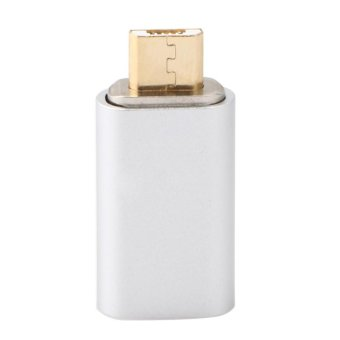 Micro USB Data Kabel Adaptor untuk Charger Magnetic untuk Android untuk LG untuk Samsung (Perak