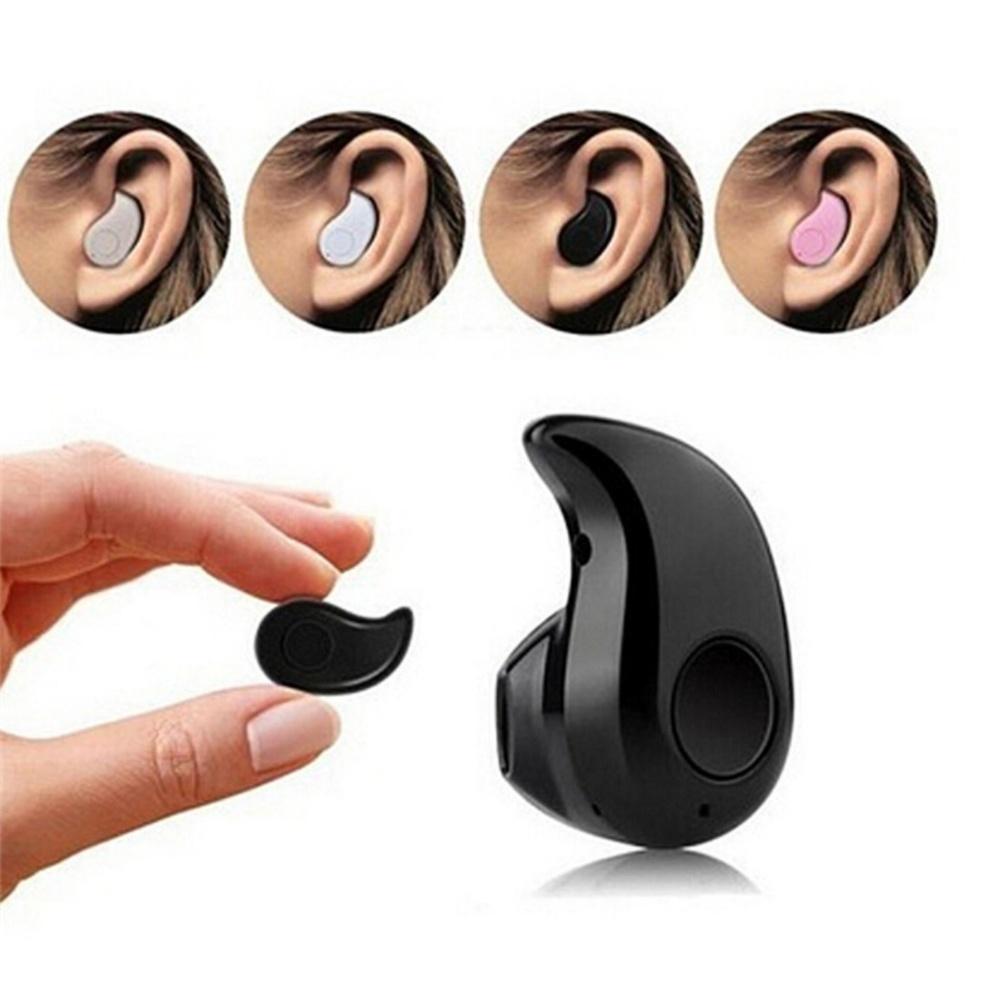 Microphone Mini Wireless Bluetooth In-Ear Stereo Headset HeadphoneEarphone Earpiece Black - intl .