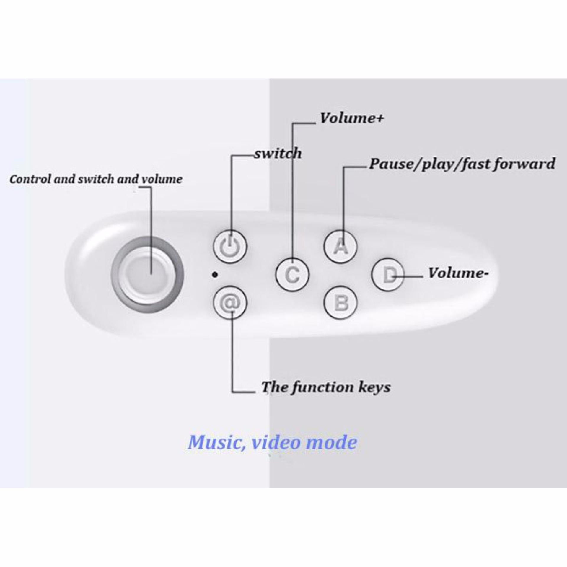Miibox Vr Box Bluetooth Smartphone Gamepad Controller White Black