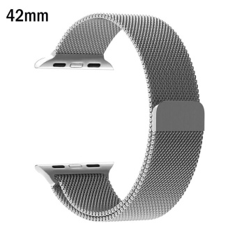 Milanese Loop Strap Stainless Steel band For Apple Watch 42mm wristband for iwatch Series 1/2 - intl