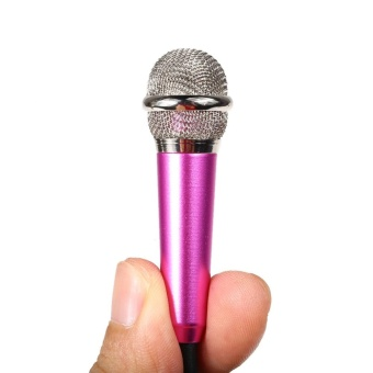 Mini Condenser Microphone with 3.5mm Plug Mobile Phone and Mic Stand(Rose) - intl - 5
