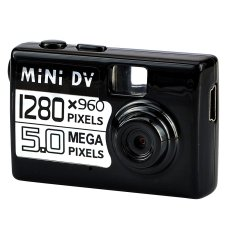 Mini DV Kamera - Maks. 5 MP - Hitam