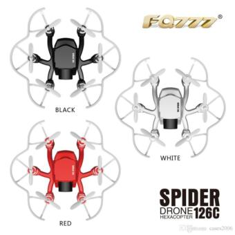 Mini FQ777 126C Spider Drone 2.4G 3D 6-Axis Gyro Roll One Key Return Dual Mode 4CH with HD Camera - RED - 4