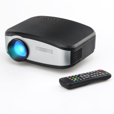 Mini LCD Portable CHEERLUX C6 LED Projector 1080p HD 800x480 1200 Lumens HDMI/USB/VGA/AV - Hitam