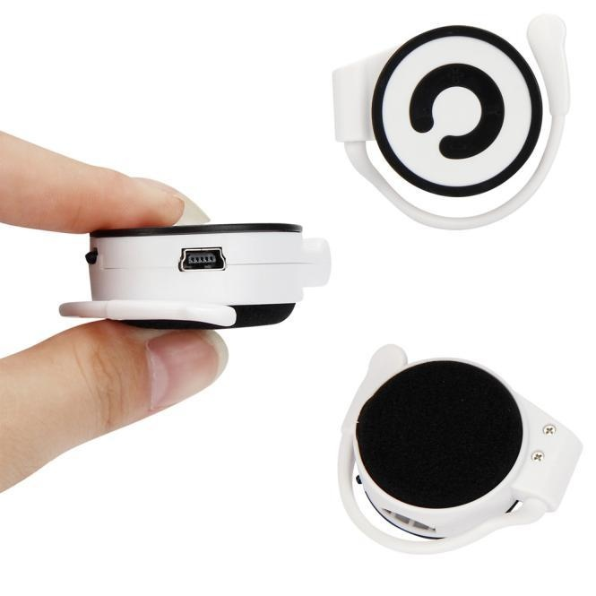 Mini MP3 Player Worn On The Ear Music Media Player USB Support TFCard intl