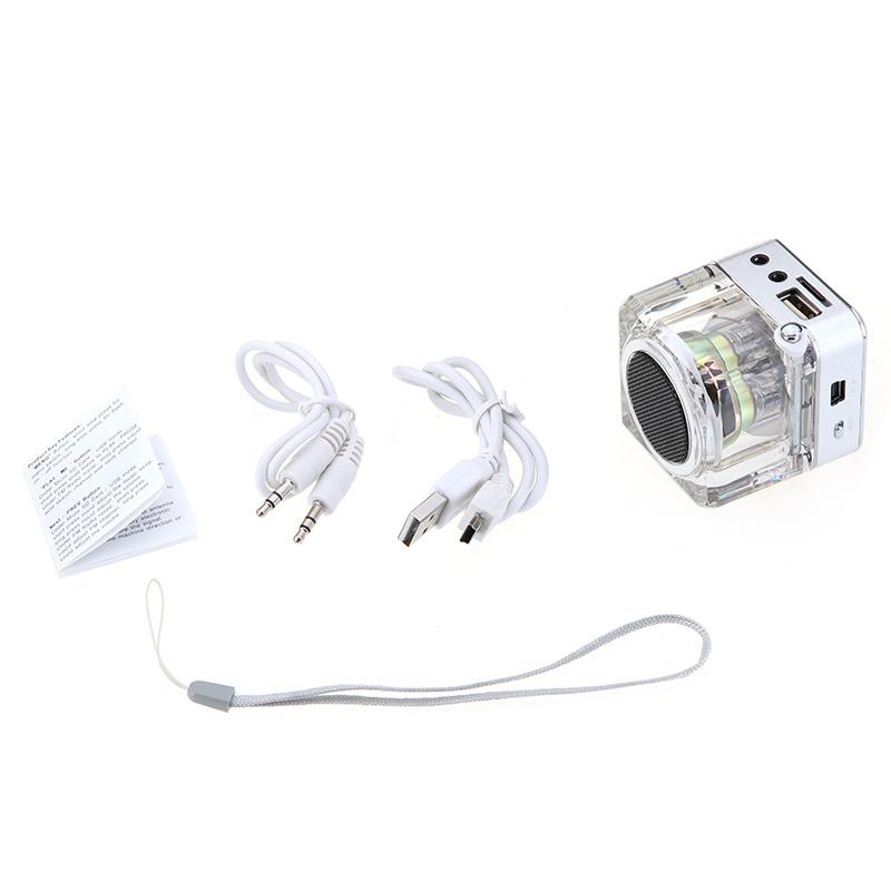 Mini Portabel Digital Musik MP3/4 Pemain Mikro USB Disk Yang SD/TF Pembicara ...