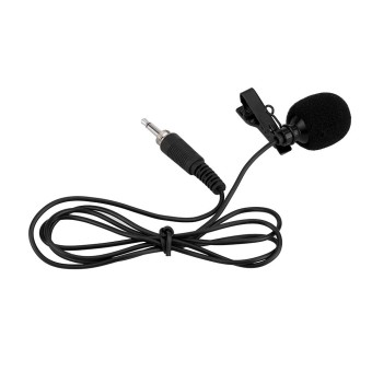 Mini Portable Clip-on Lapel Lavalier Hands-free 3.5mm External Screw Lock Jack Microphone Mic for Computer PC Laptop - intl