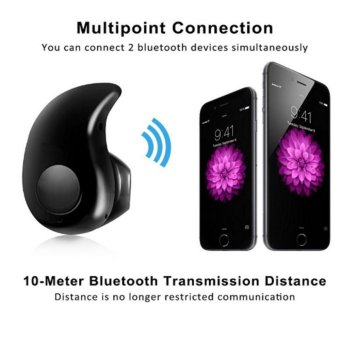 Mini S530 Stereo Music Bluetooth 4.0 Headphones Wireless Headset Sport Earbuds Driving Earphone With Microphone (Black) - intl