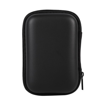 Mini Storage Bag Gadgets Organizer Portable Case For Earphone UDisk Data Cable Hot (Black) - intl