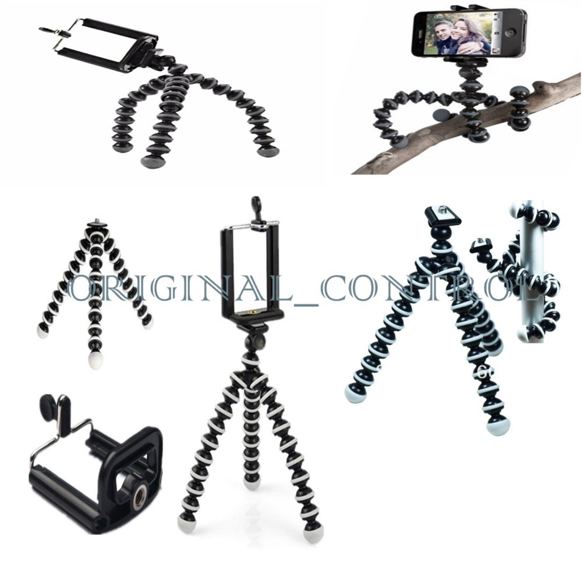 Online Murah Mini Tripod Flexible Gorilla Pod Octopus Gorillapod Small Holder U Hitam