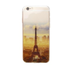Miracle Shining Eiffel Tower Rubber Soft TPU Silicone Phone Case Cover for iPhone