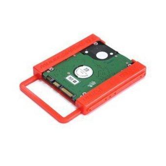 Moonar plastik 2.5 untuk 3.5 Inch SSD HDD harddisk Mounting adaptor Bracket Dock pemegang - 2 ...