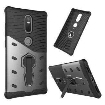 Mooncase Case For Lenovo Phab Plus Carbon Fiber Resilient DropProtection Anti-Scratch Rugged Armor Case Black - intl