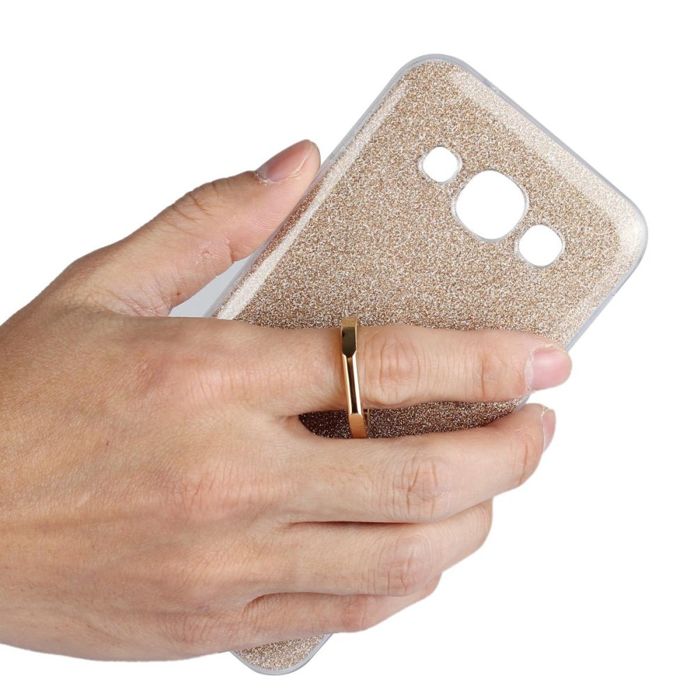 Mooncase Case For Samsung Galaxy E7 Glitter Bling Prints FlexibleSoft TPU Protective Case Cover with Ring