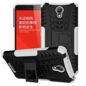 Mooncase Case For Xiaomi Redmi Note 2 Detachable 2 in 1 Hybrid Armor Design Shockproof Tough Rugged Dual-Layer Case Cover with Built-in Kickstand White - ...