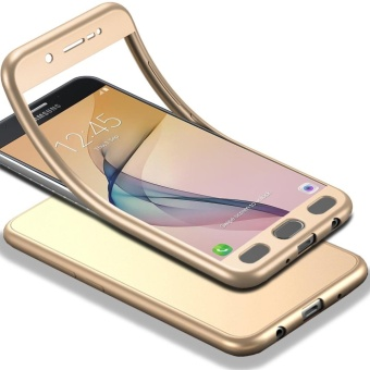 MOONCASE Galaxy J7 Prime (2017) Full-Body Case Shockproof Soft TPUMatte Finish Slim Cover 2 in 1 Full Coverage Protection withTempered Glass Screen Protector for Samsung Galaxy J7 Prime (2017)Gold - intl