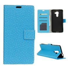 Moonmini Case for BlackBerry DTEK60 Woven Pattern PU Leather Case - Blue - intl
