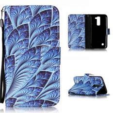Moonmini Case untuk LG K7 Premium Leather Case Magnetic Flip Stand Cover Biru Terang-Intl