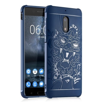Moonmini for Nokia 6 3D Dragon Relief Ultra Thin Soft Silicone Rubber Case Shockproof Protective Cover