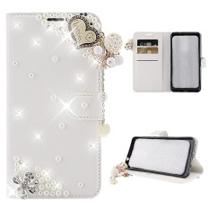 Moonmini For ZTE Blade Force N9517 3D Bling Diamond Rhinestones PU Leather Wallet Case Flip Stand Card Slots Cover with Magnetic Closure - intl