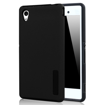 Moonmini PC/TPU Back case for Sony Xperia M4 Aqua (Black)