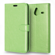 Moonmini PU Leather Flip Stand Cover for Microsoft Lumia 640 XL (Green)