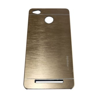 Motomo For Xiaomi Redmi 3X Hardcase Backcase Metal Case - Gold