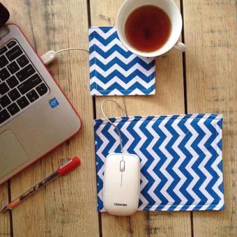 mousepads / mouse pad / alas mouse – blue chevron